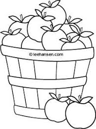 Apple Basket Coloring Page