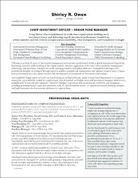 Portfolio Management Resume Investment Banking Executive Example Project Manager Sample