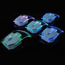 le bureau led sans fil wireless laptop mouse silent gamer transparent led ultra thin