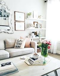 Living Room Decorating Decor Ideas Eclectic Romantic Style Muted Tones Floating Shelves Rustic