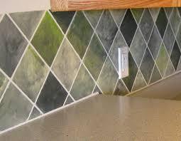 painted tile backsplash in kitchen home design ideas