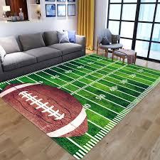 großhandel 3d green football teppich kinderraum teppich feld wohnzimmer schlafzimmer wohnzimmer grüner rasen bodenmatte kinder große teppiche zu hause