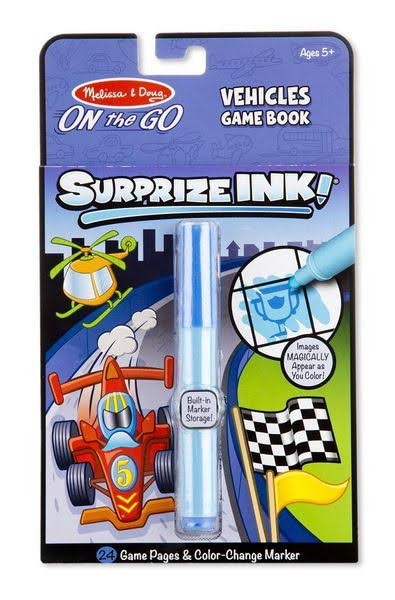Melissa and Doug Surprize Ink! On the Go Activity Book, Vehicles