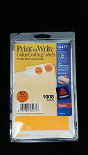 Avery 05471 Print Or Write Color Coding Labels Orange Glow T5471 3 4 Laser