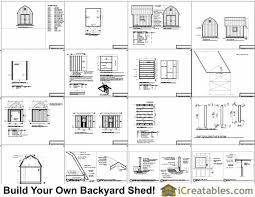 12x16 Gambrel Storage Shed Plans Free by Mini Shed Plans