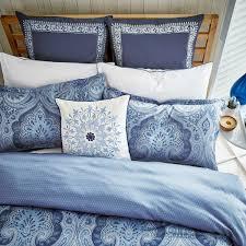 Bedding Ralph Lauren Fabrics Ashbourne Paisley Blue