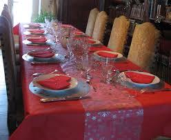 thème deco table noël nappes en fete