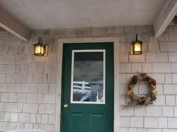outdoor front door lights i got out the ladder and started