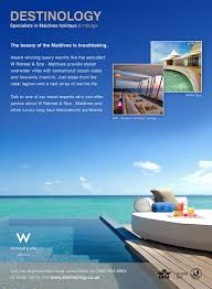 100 W Retreat And Spa Maldives Maldives Advert For Hotels Emailers Holidays