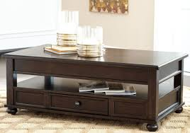 Traditional Dark Brown Norcastle Sofa Table by Barilanni Dark Brown Lift Top Cocktail Table From Ashley Coleman