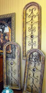 Iron Rustic Wood And Metal Wall Art