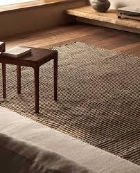teppich aus jute und naturfaser