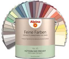 alpina feine farben edelmatte wandfarbe für innen alle 32 farbtöne 2 5l dose
