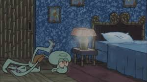 tired going to bed squidward spongebob exhausted animated gif