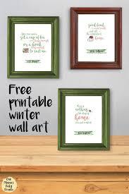 Free Printable Winter Wall Art Quotes JRR Tolkien CS Lewis Jane Austen