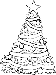Detail Christmas Tree With Stars Coloring Pages