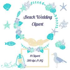 Shell Clipart Beach Wedding 6