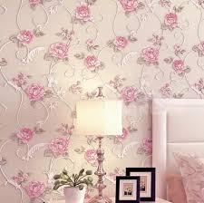 سرير نوم خلفيات رومانسية ريفي غير المنسوجة ورق الحائط 3d ثلاثي الأبعاد ارتفع