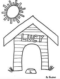 Colouring Template House Dog Coloring Pages GetColoringPages