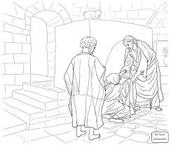 Coloring Pages For Kids Saint Peter Jesus Calls And Andrew Christianity Bible