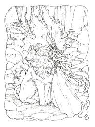 Coloring Pictures For Adults Animals Fantasy Pages Page Free Printable Mandala Pdf To Do Online