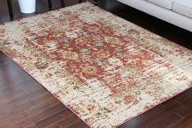8713 Red Rustic Oriental Area Rugs