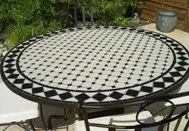 table ronde mosaique fer forge délicieux table de salon de jardin en fer forge 1 table jardin