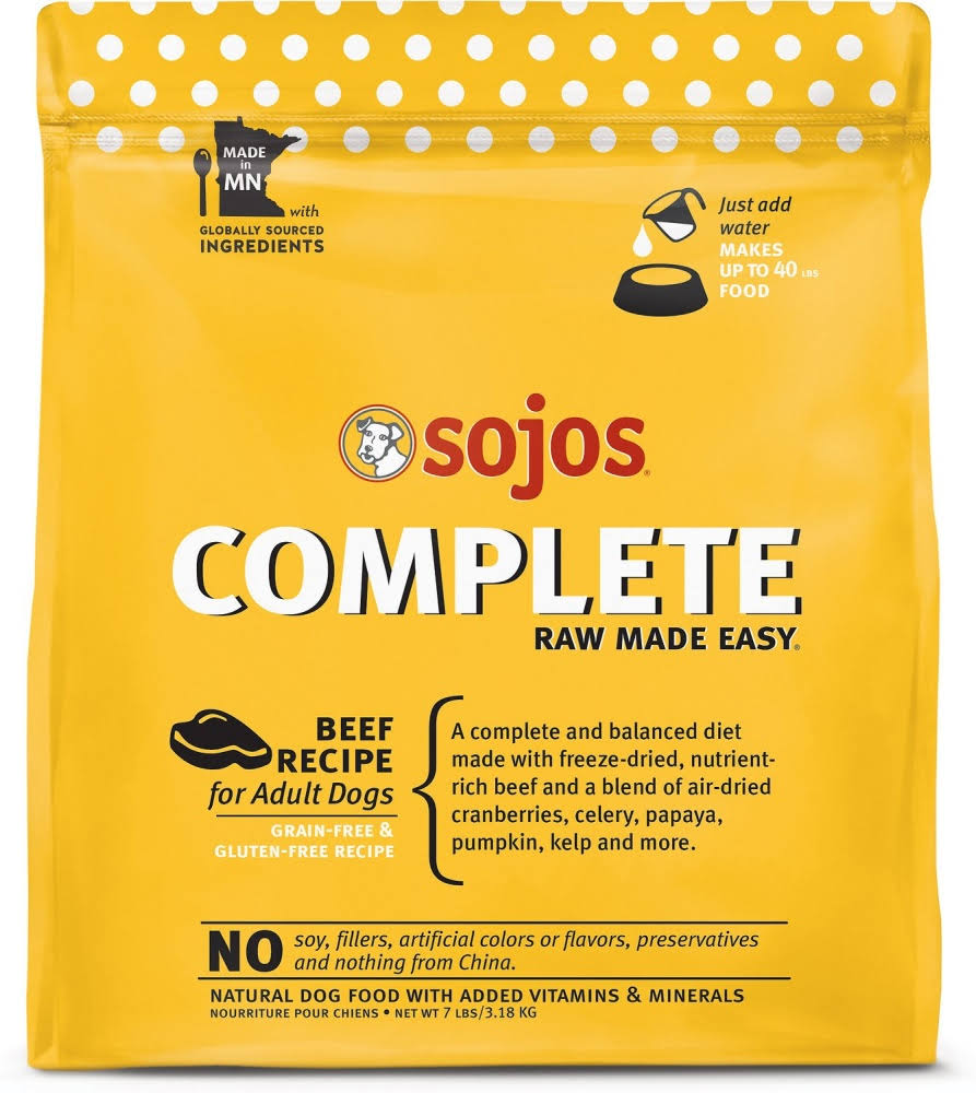 Sojos Complete Beef Dog Food 7 lb
