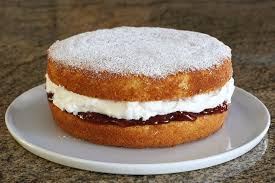 Queen cake is a basic cake filled with whipped cream and jam Diana Rattray