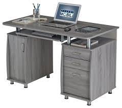 Techni Mobili Super Storage Computer Desk Canada by Workstation Gray Contemporary Desks And Hutches By Homesquare