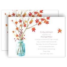 Autumn And Fall Wedding Invitations Arrangement Invitation