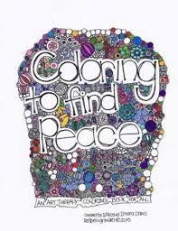 Coloring To Find Peace Art Therapy Book By Akosua Davis 2015 Paperback