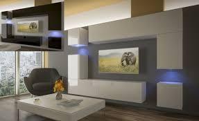 moderne wohnwand schrankwand hochglanz wohnzimmer next 5