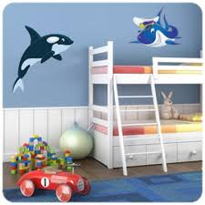 stickers pour chambre d enfant sticker requin sympa un autocollant pour décorer une chambre d enfant