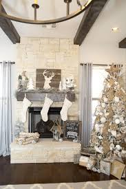 Farmhouse Christmas Decor With A Neutral Tree And Mantel Gorgeous Ideas Including