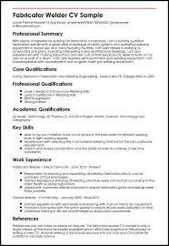 Fabricator Welder CV Sample