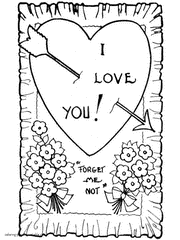 Gorgeous Inspiration Valentine Card Coloring Pages Free Printable Valentines Bw Image Gallery Collection
