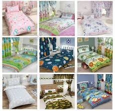 JUNIOR TODDLER DUVET COVER SETS COT BEDDING UNICORN DINOSAUR SOLAR