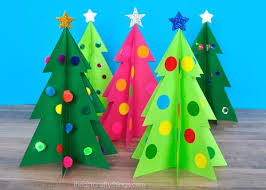 Finish Your 3D Christmas Tree Craft By Adding Embellishments Around The Different Sections Of Get Creative With What You Have At Home Sequins