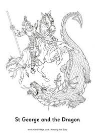 St George And The Dragon Colouring Page