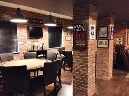After The DIY Brick Veneer In Man Cave Transforms Poker Room Into A