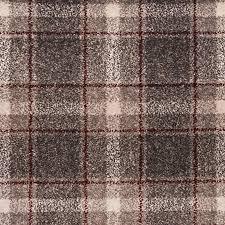Light Grey Red Dali Tartan Carpet