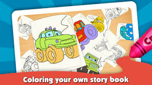 Kids Coloring Book Monster Trucks On The App Store