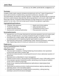 Professional Nuclear Engineering Resume Examples Reactor Operator Rh Yourprospex Com Best