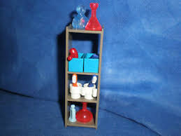 playmobil 9268 badezimmer regal mit körbe fön kamm flaschen