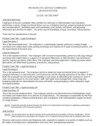 Legal Assistant Resume Samples From Sample Secretary Resumes