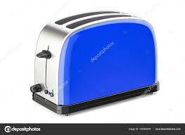 Blue Toaster 3D Rendering Isolated On White Background Photo By Alexlmx