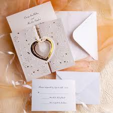 Unique And Elegant Hearts Affordable Wedding Invitations EWRI008 As Low 139