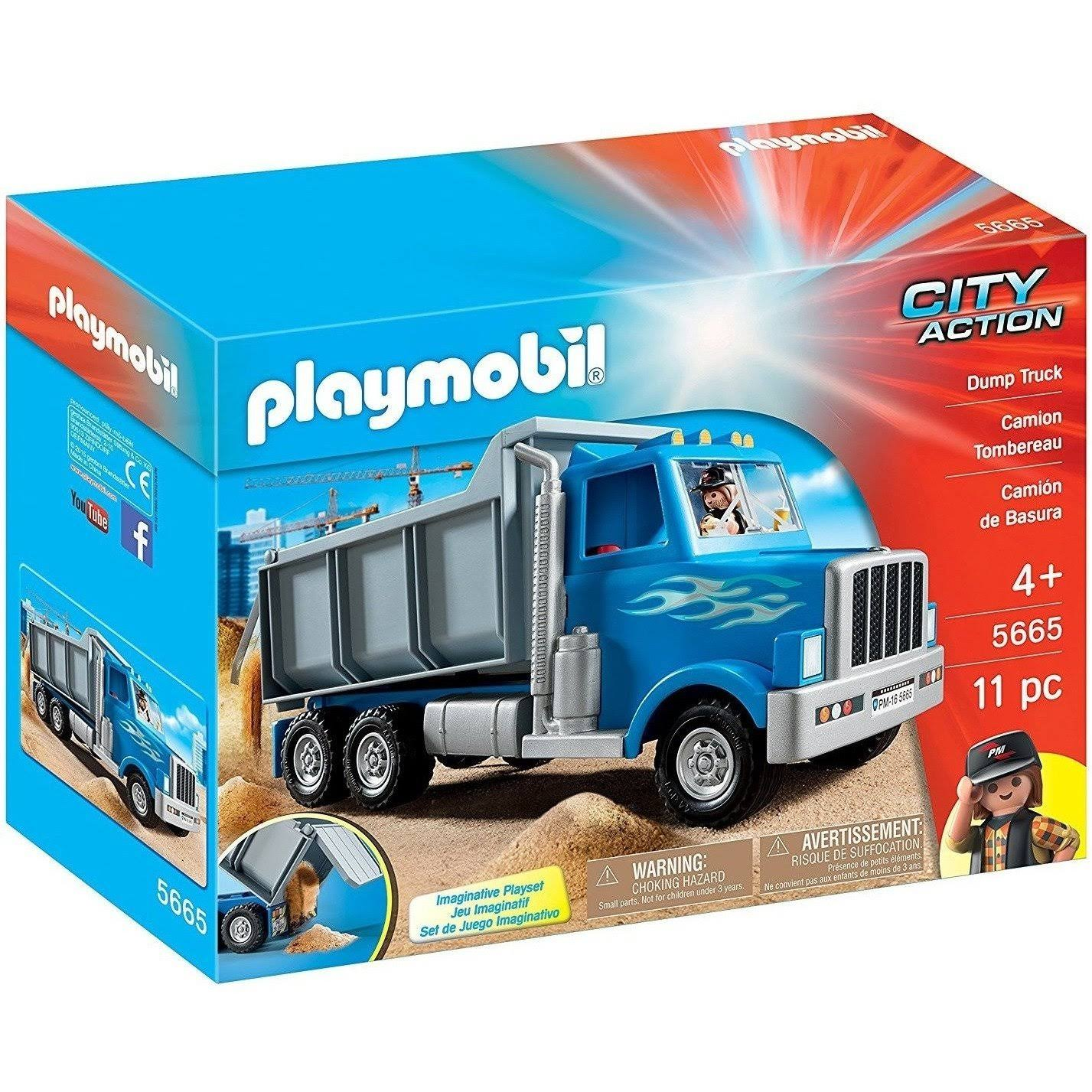 Playmobil City Action Dump Truck Playset