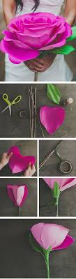 Giant Paper Roses Tutorial Great Wedding Bouquet Or Photoshoot Prop